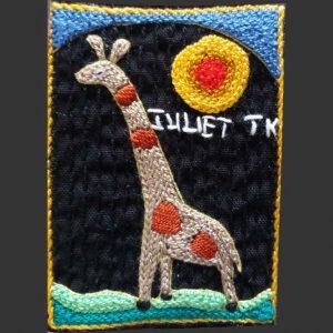 Giraffe sun L