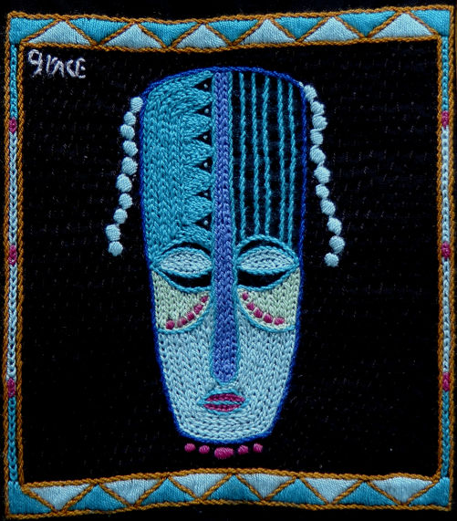 Mask Lines Turqoise