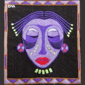 Mask Earrings Purple