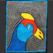 Guinea fowl head RYB R