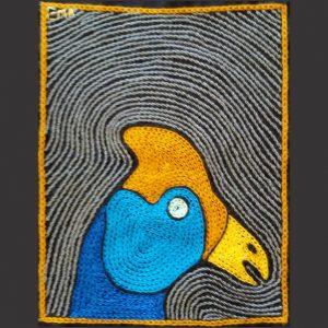 Guinea fowl head turq R